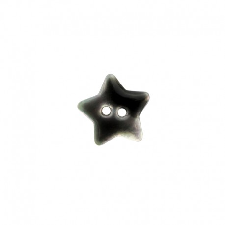 Mother of Pearl button star - anthracite