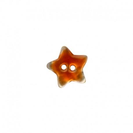 Bouton Nacre étoile - orange