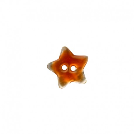Mother of Pearl button star - orange