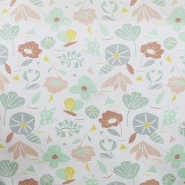 Tissu Oeko-Tex popeline Madame casse bonbon - Spring x 10cm