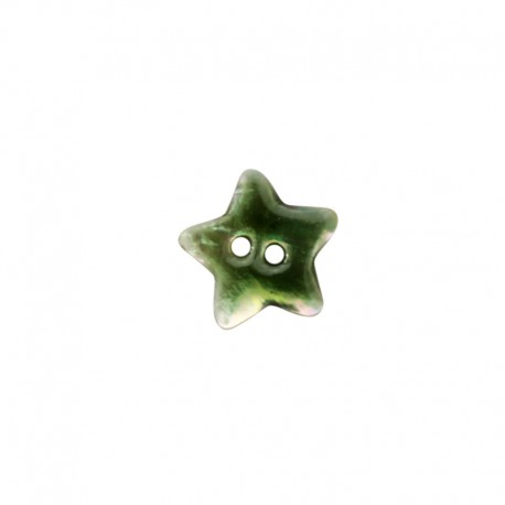 Mother of Pearl button star - green