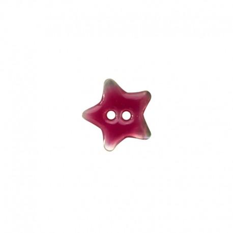 Bouton Nacre étoile - rose
