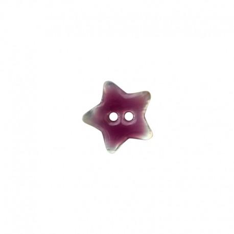 Bouton Nacre étoile - violet