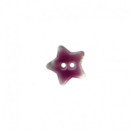 Mother of Pearl button star - purple