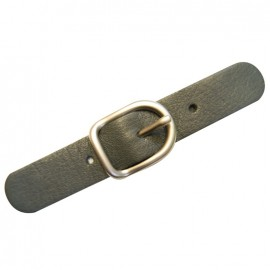 Leather strap with buckle, Lazy Gray - grey