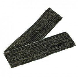 Lurex knitted tubular edging strip black - gold lurex (1m)