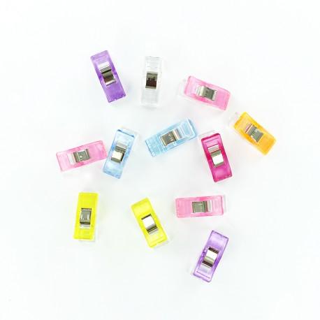 1 set of 12 wonder clips Prodiges - multicolor