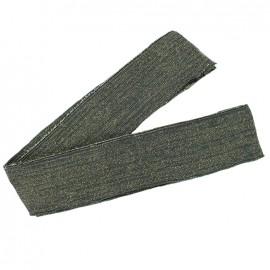 Bande fil lurex bord-côte gris - lurex doré (1m)