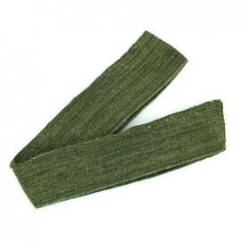 Bande fil lurex bord-côte kaki - lurex doré (1m)