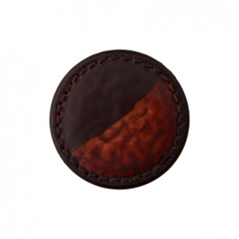 Coffee Polyester button - brown