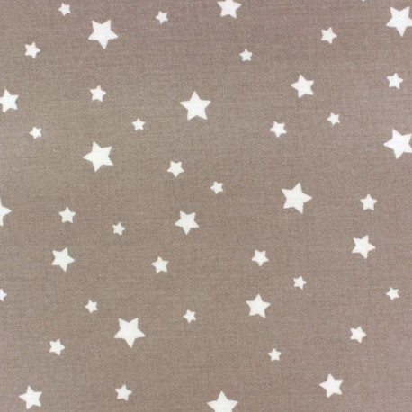 Tissu coton Scarlet - taupe clair x 10cm