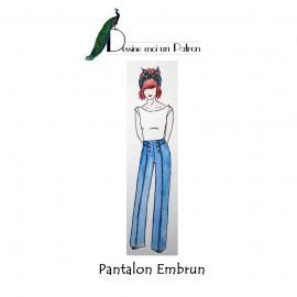 Patron Femme Dessine moi un patron Pantalon - Embrun