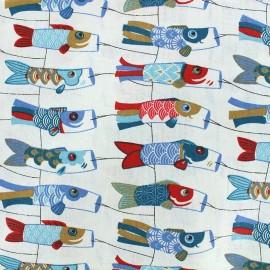 Tissu coton crétonne Mini cerf-volants - indigo x 10cm
