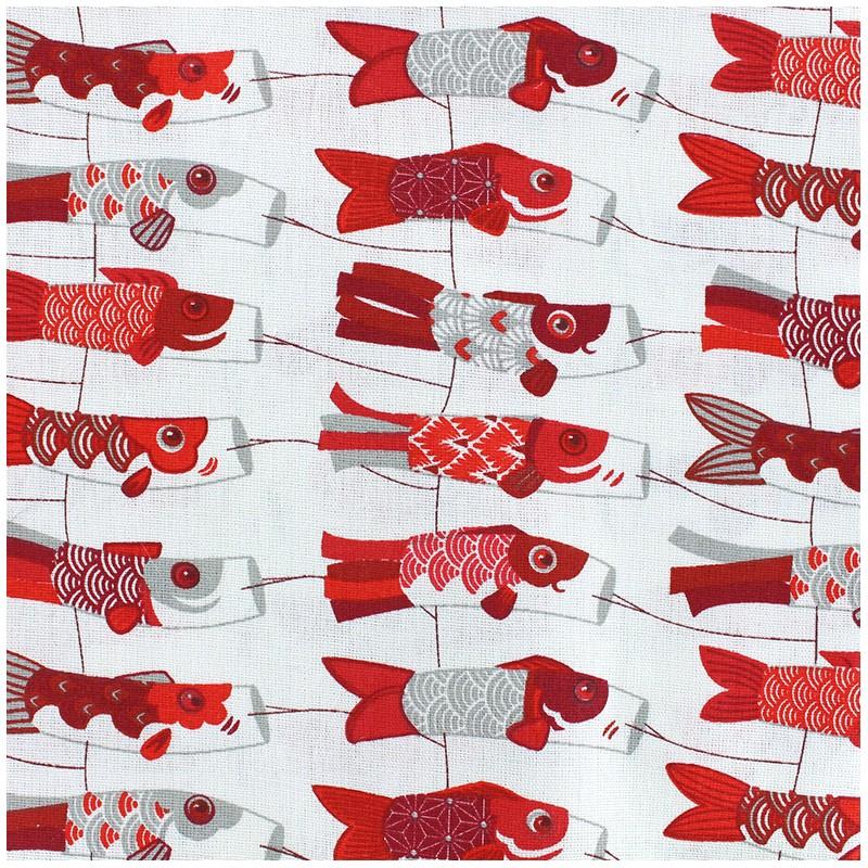 tissu coton cr tonne mini cerf volants rouge gris x 10cm. Black Bedroom Furniture Sets. Home Design Ideas