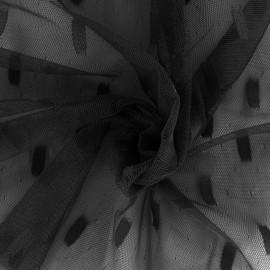 Tulle fabric Stella - black x 10cm