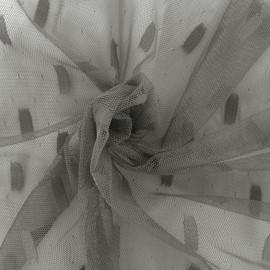 Tulle fabric Stella - grey x 10cm