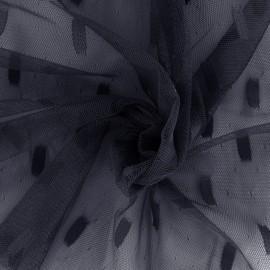 Tulle fabric Stella - navy x 10cm
