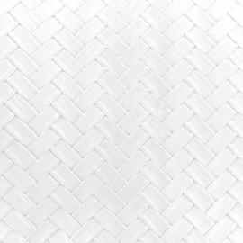 Simili cuir Panier - blanc x 10cm