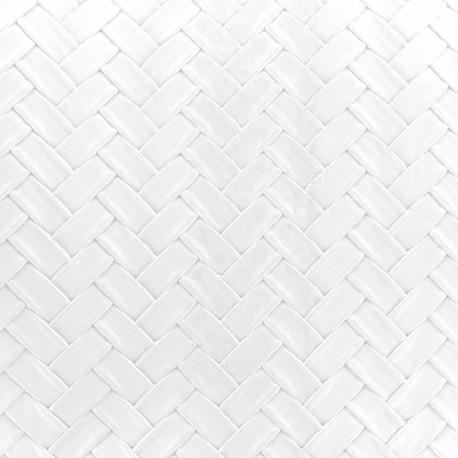 Simili cuir panier blanc x 10cm ma petite mercerie - Tissus simili cuir blanc ...