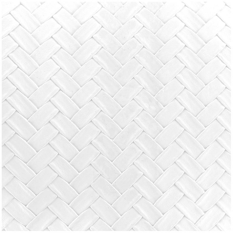 Simili cuir panier blanc x 10cm ma petite mercerie - Tissu simili cuir blanc ...