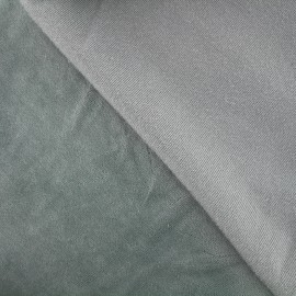 Tissu Velours éponge jersey - bleu fumé x 10cm