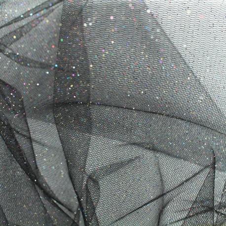 Sequined Flexible Tulle - multicolore x 10cm