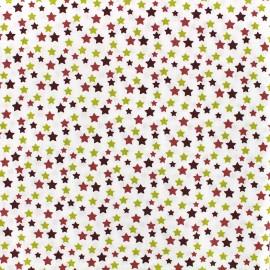 Oeko-tex cotton poplin fabric Starry - red/green x 10cm