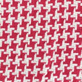Tissu jacquard tissé teint Pictave - framboise x 10cm