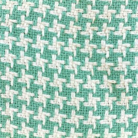 Tissu jacquard tissé teint Pictave - vert d'eau x 10cm