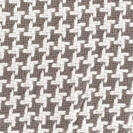 Tissu jacquard tissé teint Pictave - taupe x 10cm