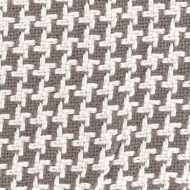 Woven jacquard fabric Pictave - taupe x 10cm