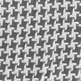 Tissu jacquard tissé teint Pictave - anthracite x 10cm