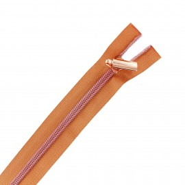 Zipper separable copper - pink