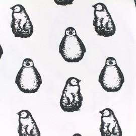 Tissu Oeko-Tex Jersey Bio Pingouin - blanc x 10cm