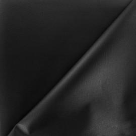 Tissu toile polyester souple imperméable - noir x 10cm