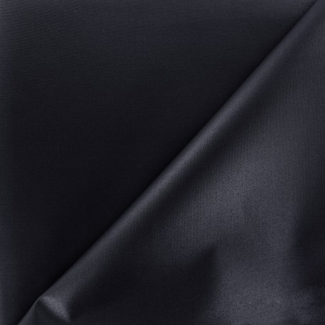 Waterproof supple polyester canvas fabric - navy x 10cm
