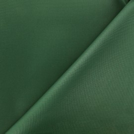 Waterproof supple polyester canvas fabric - dark green x 10cm