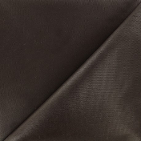 Tissu toile polyester souple imperméable - marron x 10cm