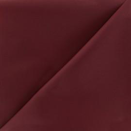 Tissu toile polyester souple imperméable - bordeaux x 10cm