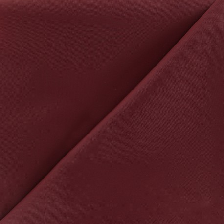 Waterproof supple polyester canvas fabric - burgundy x 10cm