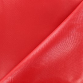 Waterproof supple polyester canvas fabric - red x 10cm