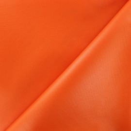 Waterproof supple polyester canvas fabric - orange x 10cm