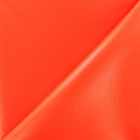 Tissu toile polyester souple imperméable - orange fluo x 10cm