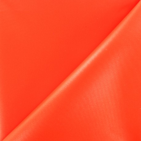 Waterproof supple polyester canvas fabric - neon orange x 10cm