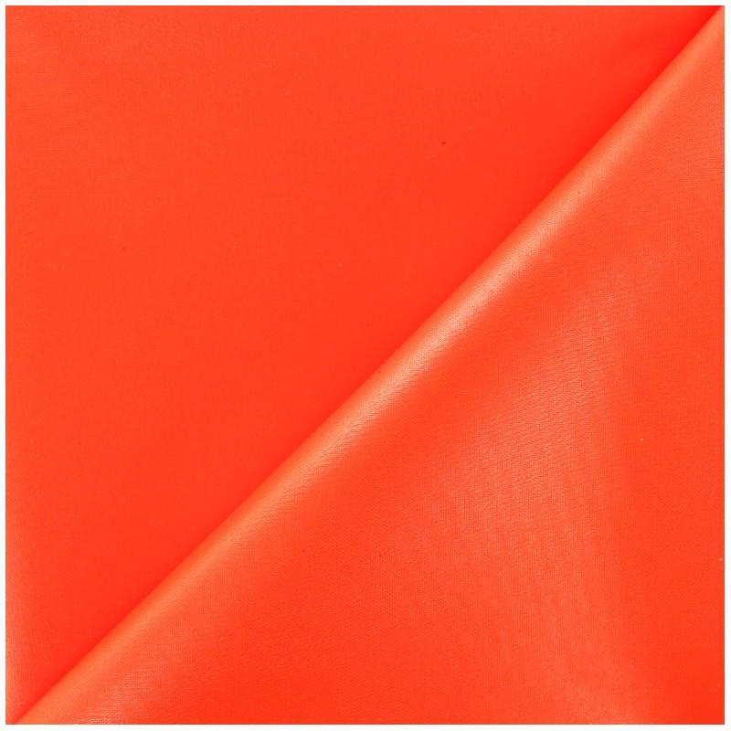 tissu toile polyester souple imperm able orange fluo x. Black Bedroom Furniture Sets. Home Design Ideas