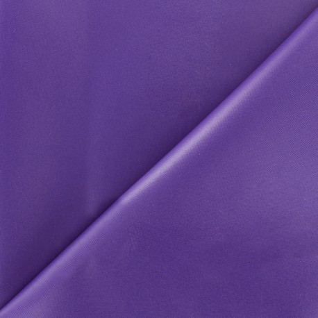 Tissu toile polyester souple imperméable - violet x 10cm