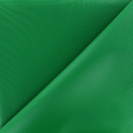 Waterproof supple polyester canvas fabric - green x 10cm