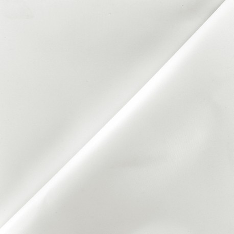 Waterproof supple polyester canvas fabric - white x 10cm