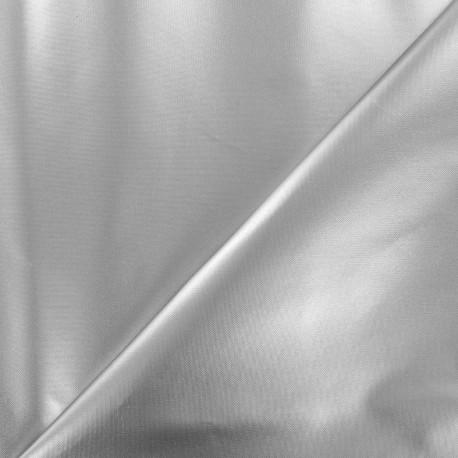Tissu toile polyester souple imperméable - argent x 10cm
