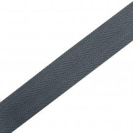 Polypropylene strap herrigone 4 cm - grey  x 1m